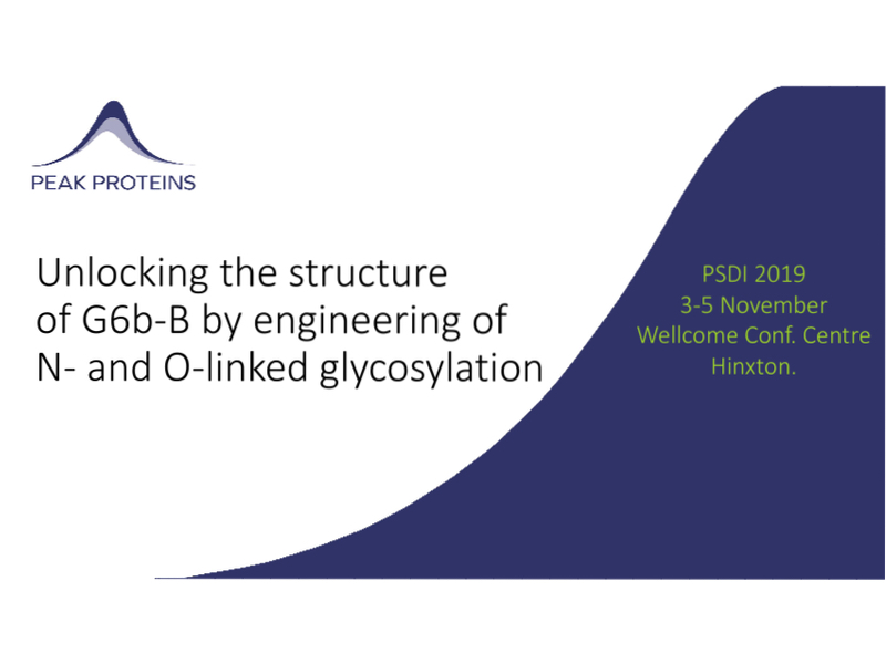 Unlocking the structure of G6b-B by engineering of N- and O-linked glycosylation
