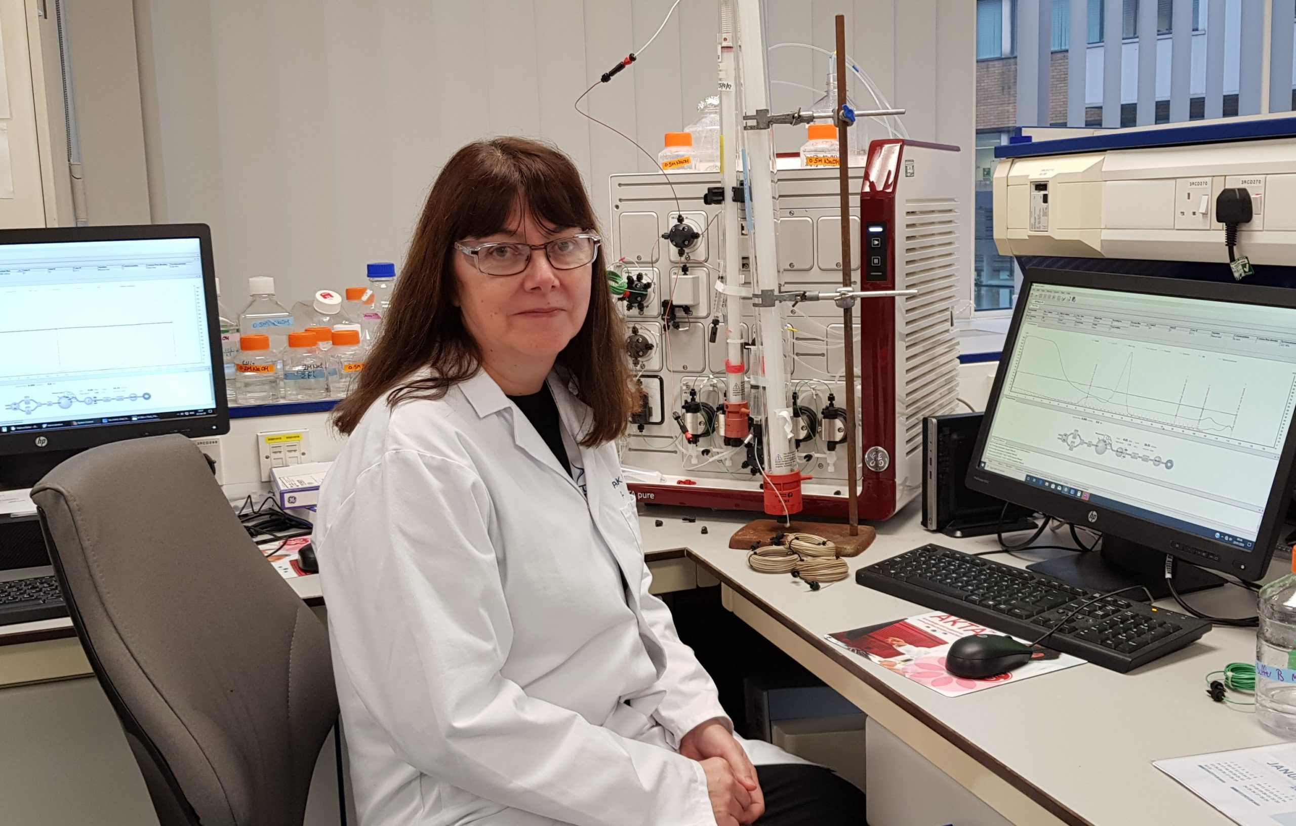 Liz Flavell in the Lab
