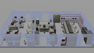 Rendered Impression of New labs and Offices